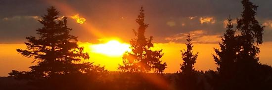 Flamboyant coucher soleil au col de la Faucille