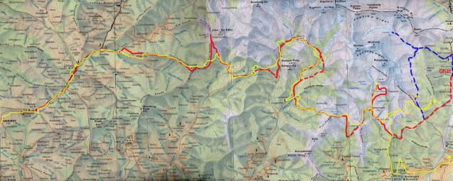 Carte de aa route des kharkas
