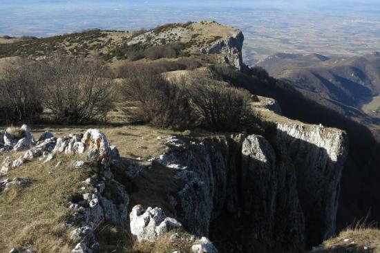 Panorama à l'ouest depuis le sommet de Pierre Chauve