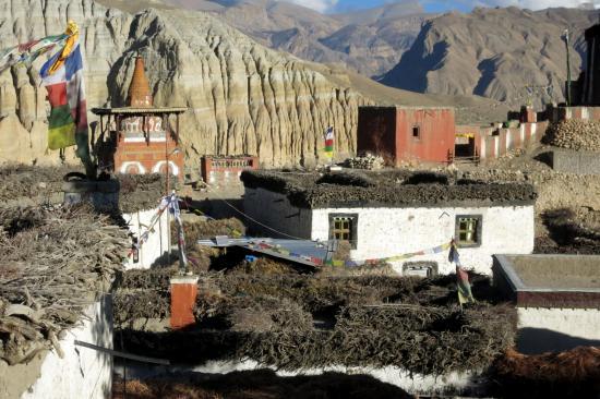 A Tsarang, une partie de la richesse se trouve sur les toits...