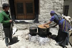 Lo Monthang : élaboration de la thumba
