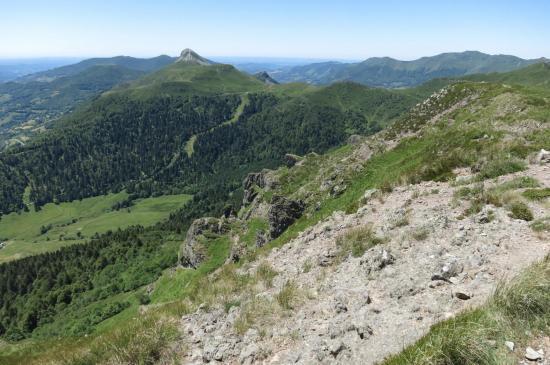 Panorama vers le S depuis le Bec de l'Aigle