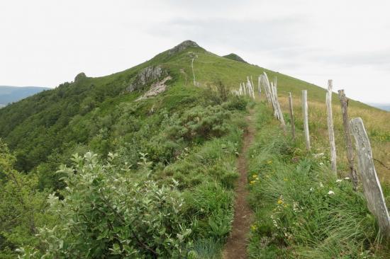 Sur les crêtes à l'approche du Puy de la Poche