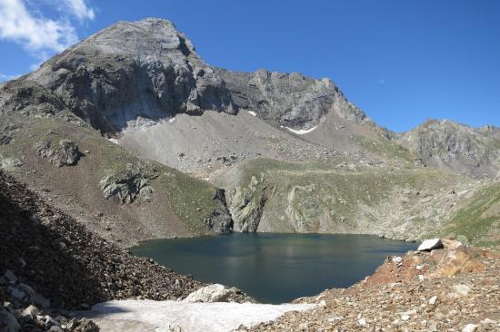 Passage au lac du col d'Arratille