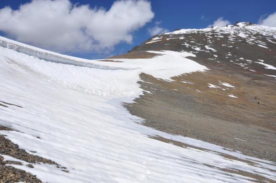 La corniche neigeuse du Phuktal La côté N