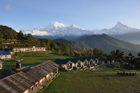 Lever de soleil sur l'Annapurna himal depuis l'Australian camp