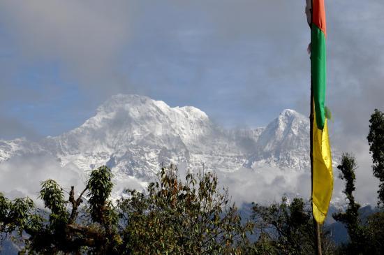 Depuis Pitham deurali, Annapurna sud et Hiunchuli