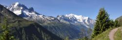 Aiguille Verte et Mont-Blanc depuis l'Aiguillette des Posettes