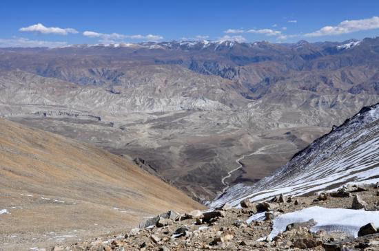 Découverte du nord du Mustang depuis le Kekyap La (5600m)