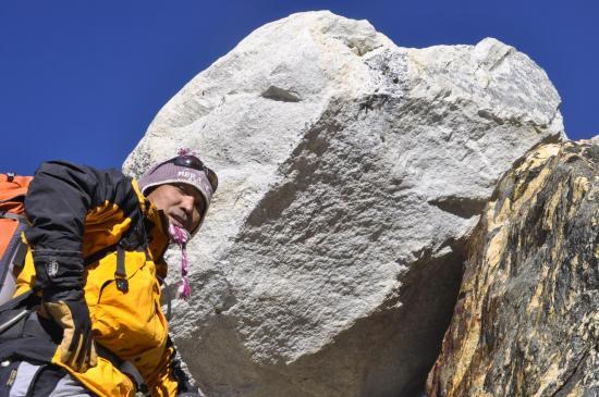 Phurba Sherpa dans la montée vers l'Amphu Lapsa