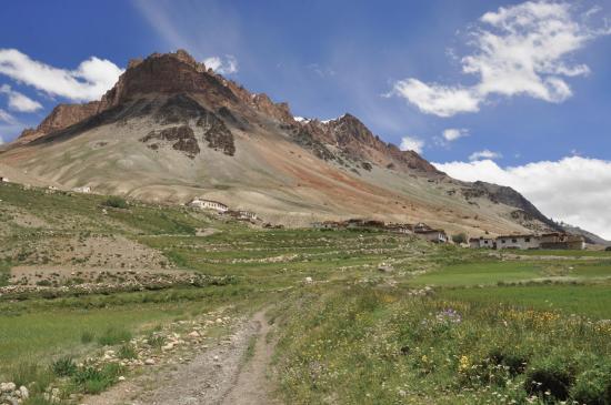 Kargyak, dernier village de la vallée agraire de la Lung Nag Chu