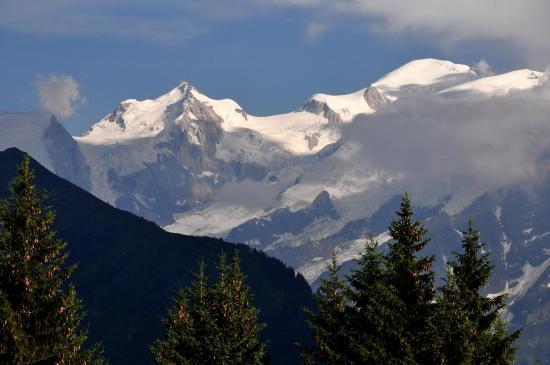 Mont-Maudit et Mont-Blanc vus du Châtelet d'Ayères