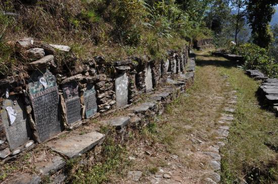 Les chautaras du Kangchenjunga