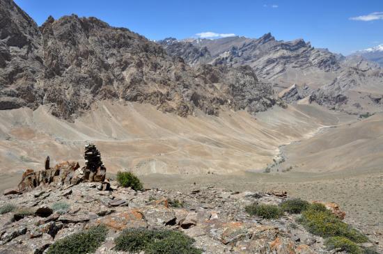 Descente vers Namste par la variante panoramique
