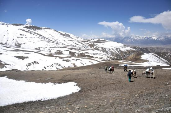 Redescente depuis le Chinese pass (5300m)