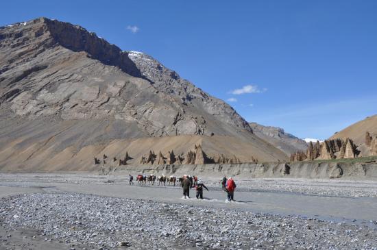 Malung Chu - Arrivée au confluent des trois rivières
