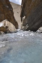 Entrée dans le canyon de gauche