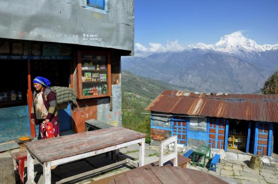 La chaîne du Dhaulagiri himal vue depuis Phalante