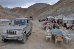 Le village de tentes de Pang