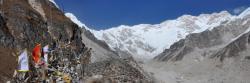 Le Kangchenjunga vu depuis Oktang