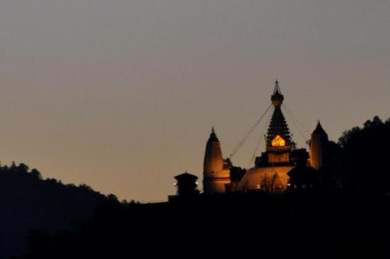 Coucher de soleil sur Swayambunath (Kathmandou)
