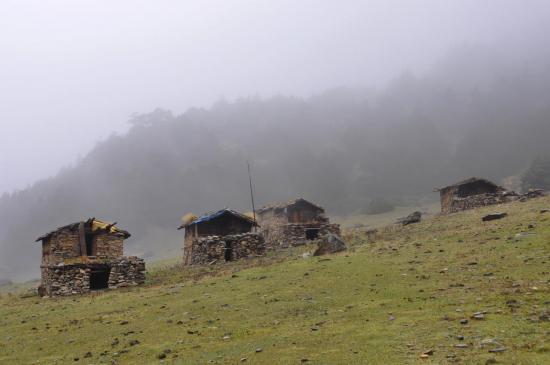 Les bergeries d'alpage de Yak kharka