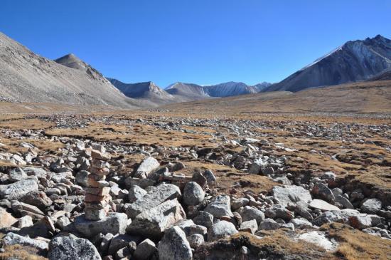 Remontée de la vallée de la Nakhkren khola et toujours pas d'Araniko Chuli...