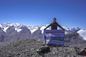 Bhim Tamang au sommet du Gaugiri