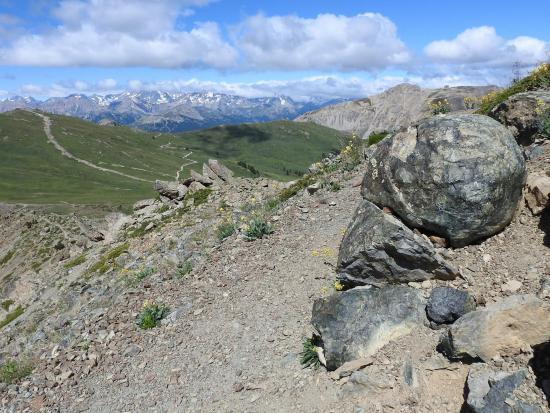 Une bombe de basalte au bord du chemin