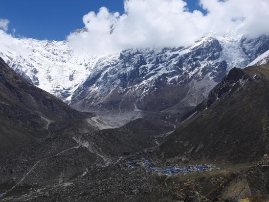 Le plateau de Kiangjin Gonpa vu depuis Ngegang kharka