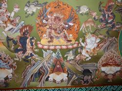 Détail des peintures murales de Norbu