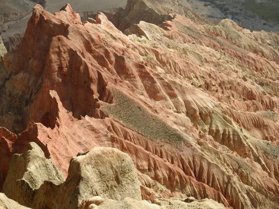 Les falaises de Dhakmar vues d'en haut...