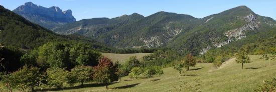 Descente du col Trépalon vers l'Aribat