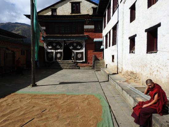 La cour intérieure de Thubten Chöling