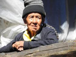 Une habitante d'Olangchun Gola