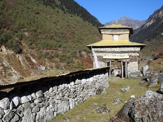 Le khani à l'entrée N d'Olangchun Gola