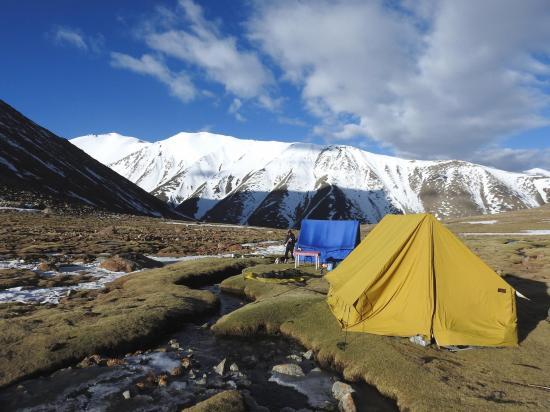 Un camp au-dessus d'Ongpo pullu