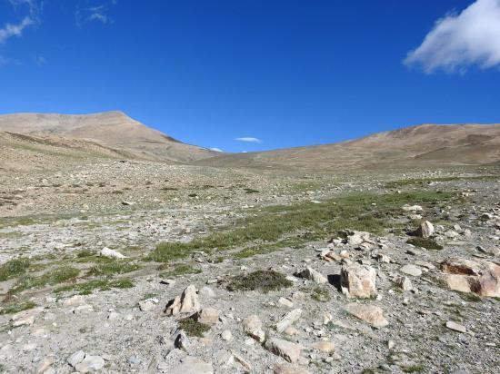 Le Salkom La vu côté S depuis l'emplacement du bivouac
