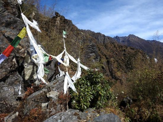 Sur le sentier-blacon entre Thudam et Chyamtang