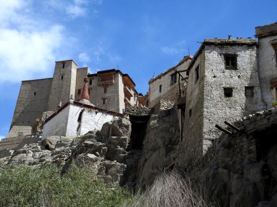 Le Royal Palace de Leh vu depuis la vieille ville