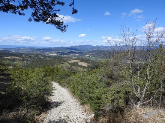 La vallée de la Drôme vue depuis le Pas Saint-Michel