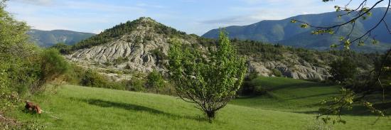 Le col de l'Aiguillon Saint Claude vu depuis le gîte de Vergol