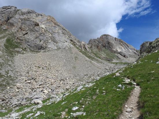 A l'approche du col de l'Aiguillette
