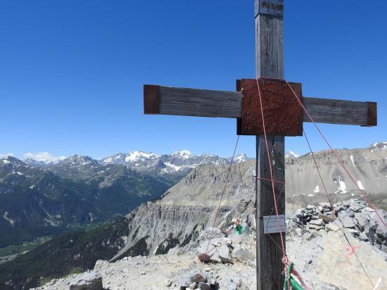 Au sommet de l'Aiguille Rouge (vue sur le massif des Ecrins)