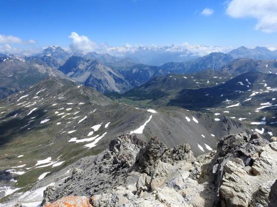 Panorama sur la Vanoise depuis le sommet du Grand Aréa
