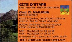 Carte de visite El Mahjoub