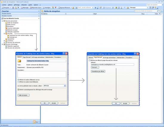 Configuration des flux RSS dans Outlook 2007