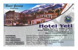 Hotel yeti Manang
