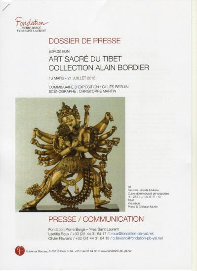 Exposition Arts sacr&eacute;s du Tibet