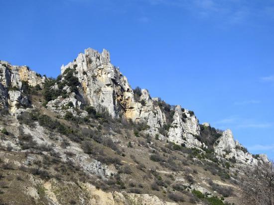 Le chateau de Crussol vu de Guilherand-Granges